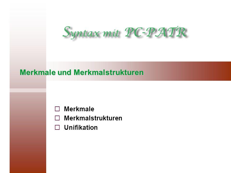 Merkmale und Merkmalstrukturen