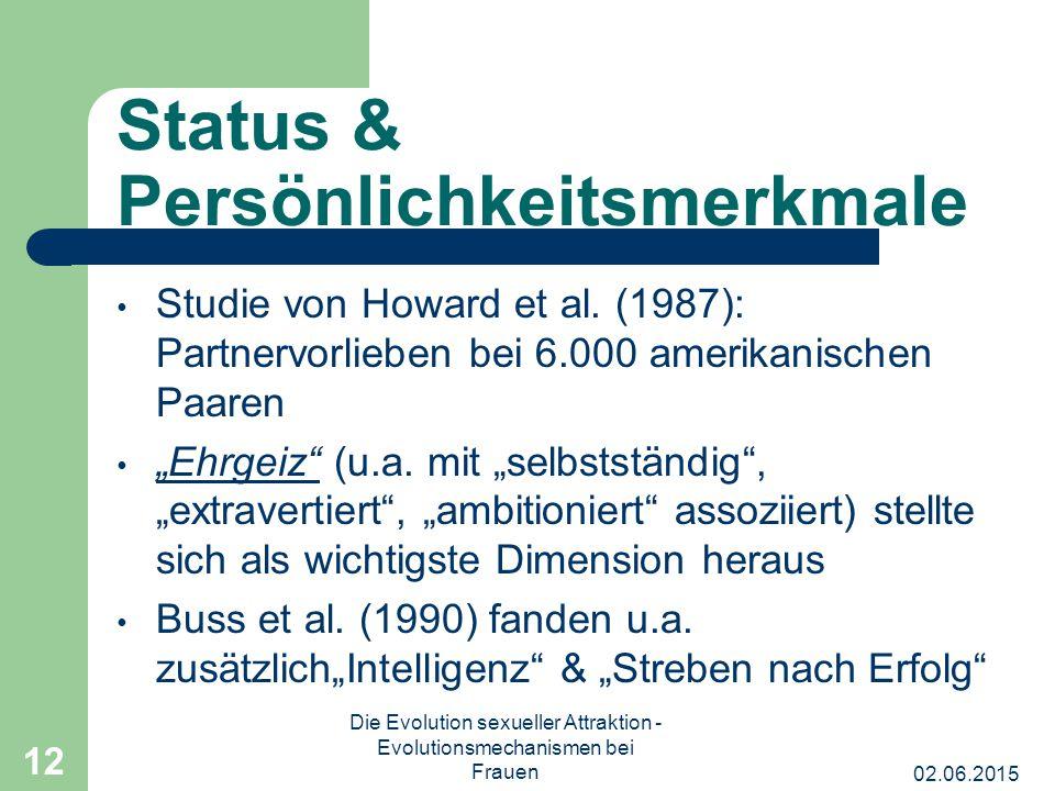 Status & Persönlichkeitsmerkmale