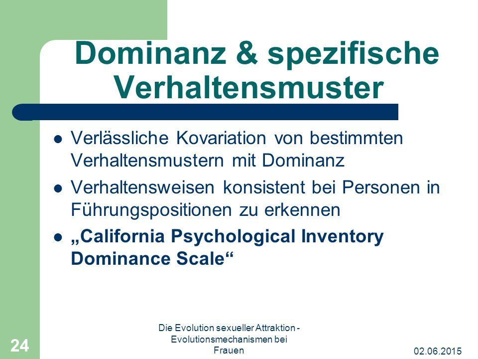 Dominanz & spezifische Verhaltensmuster