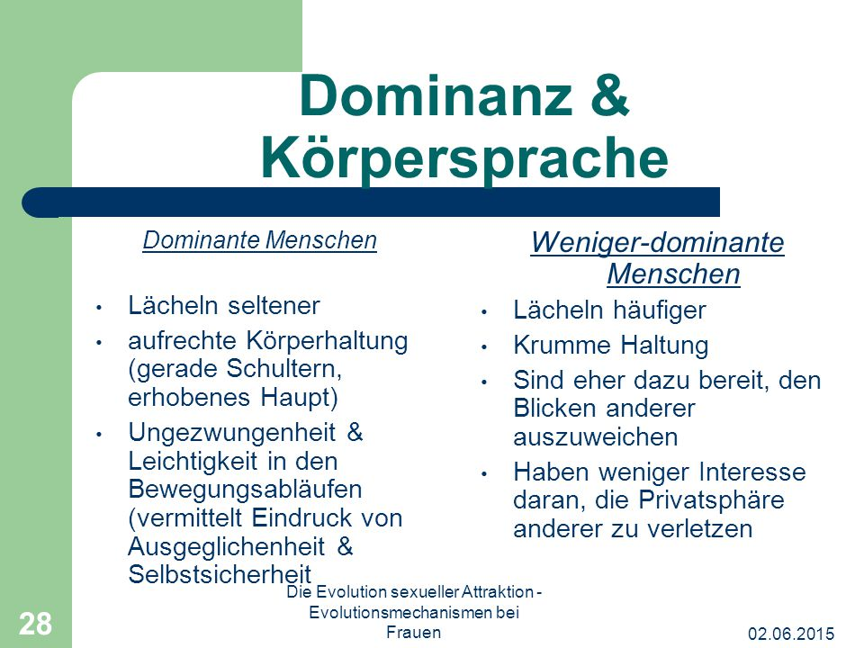 Dominanz & Körpersprache