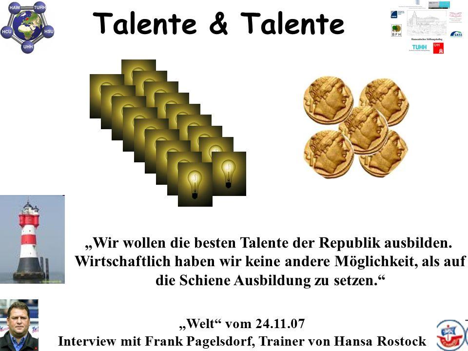 """Talente & Talente """"Wir wollen die besten Talente der Republik ausbilden. Wirtschaftlich haben wir keine andere Möglichkeit, als auf."""
