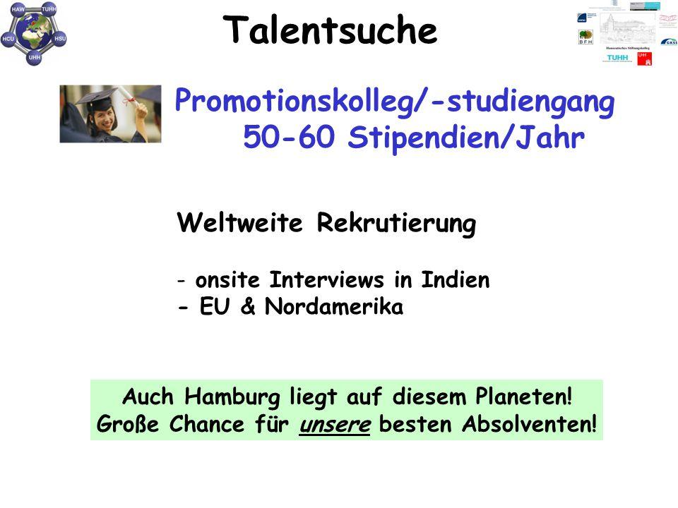 Talentsuche Promotionskolleg/-studiengang 50-60 Stipendien/Jahr