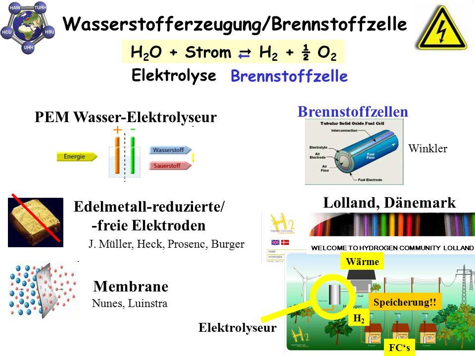 PEM Wasser-Elektrolyseur Edelmetall-reduzierte/