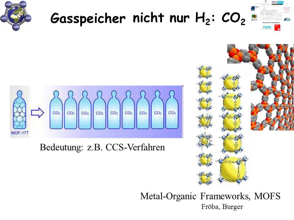 Gasspeicher nicht nur H2: CO2 Bedeutung: z.B. CCS-Verfahren