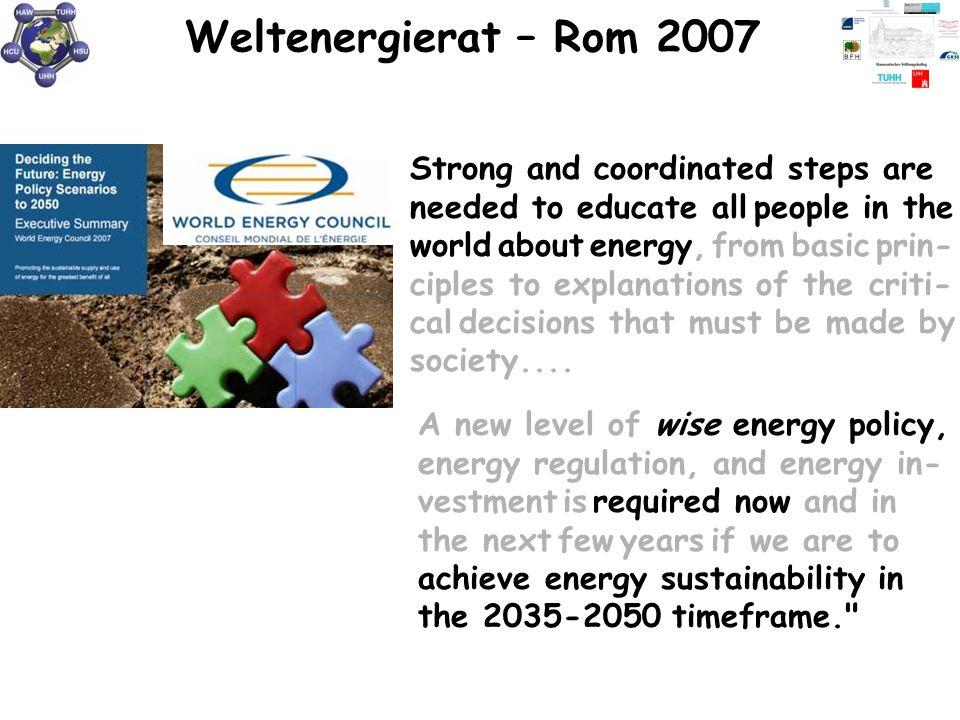Weltenergierat – Rom 2007