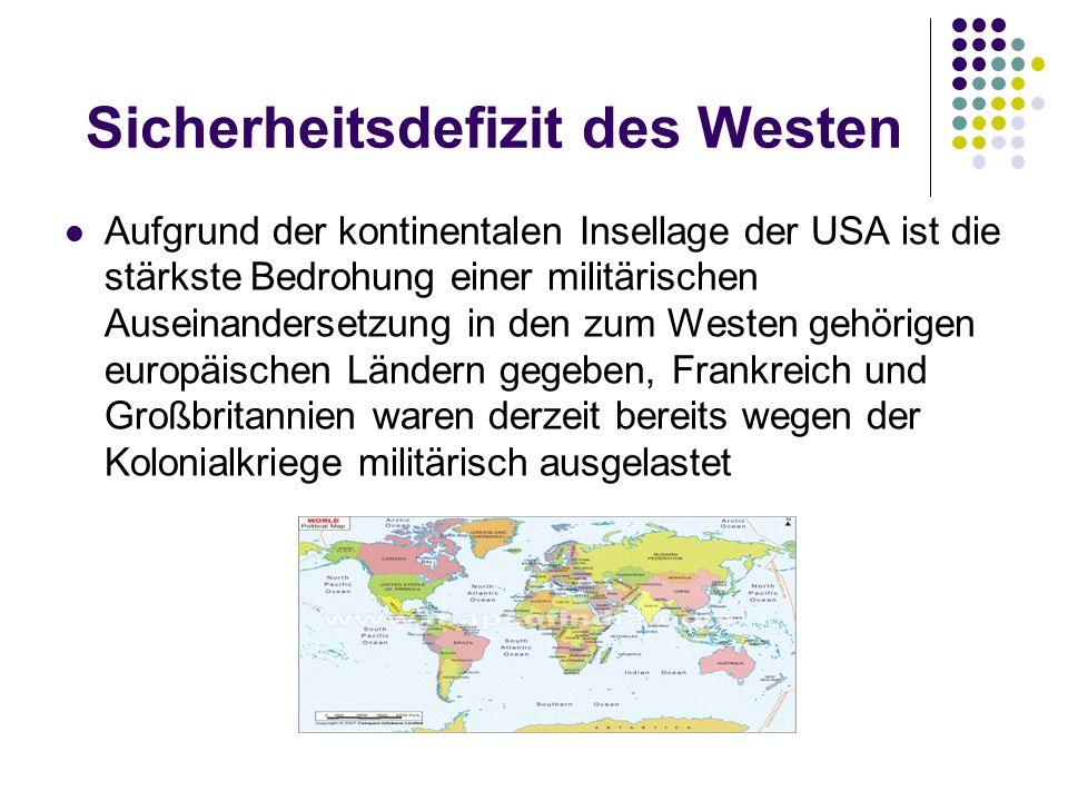 Sicherheitsdefizit des Westen