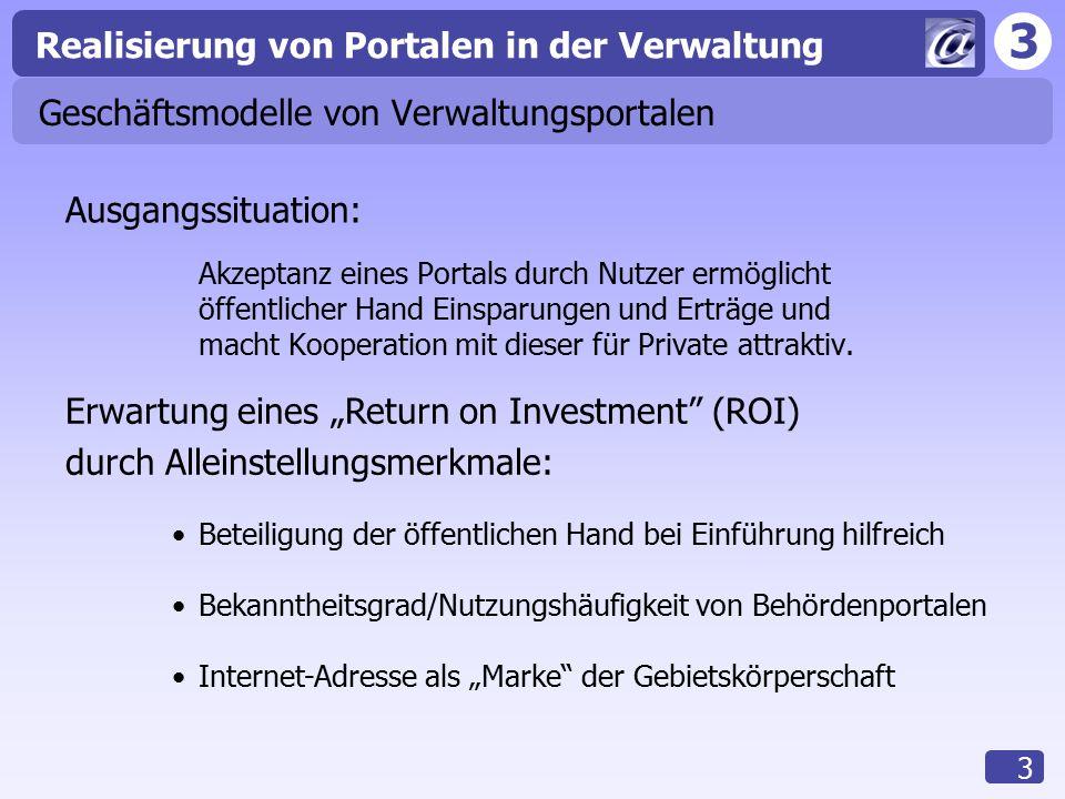 Geschäftsmodelle von Verwaltungsportalen