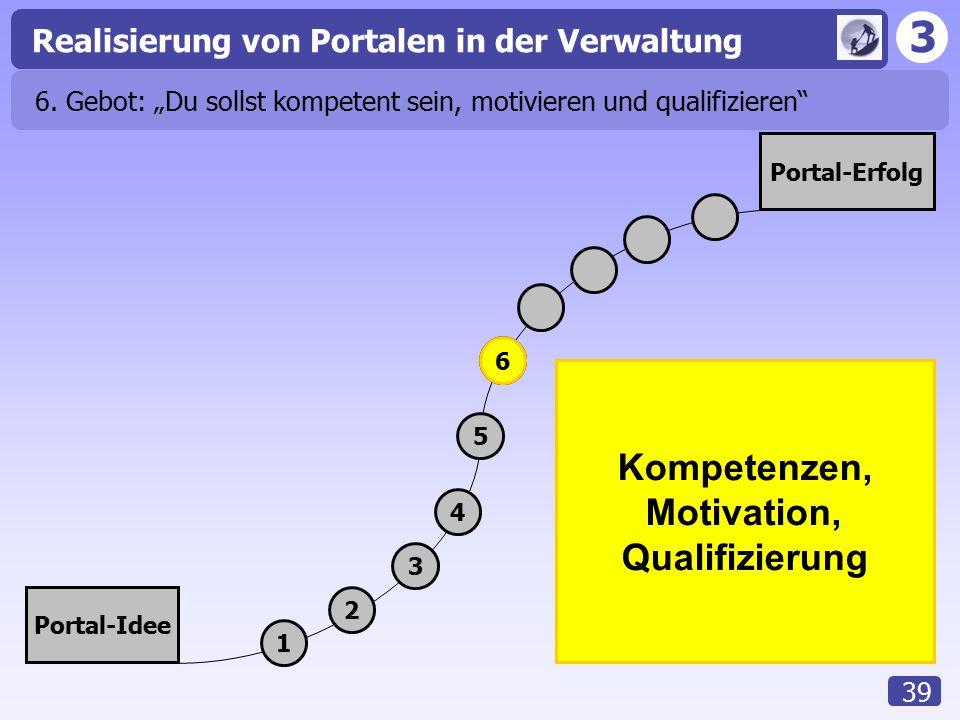 """6. Gebot: """"Du sollst kompetent sein, motivieren und qualifizieren"""