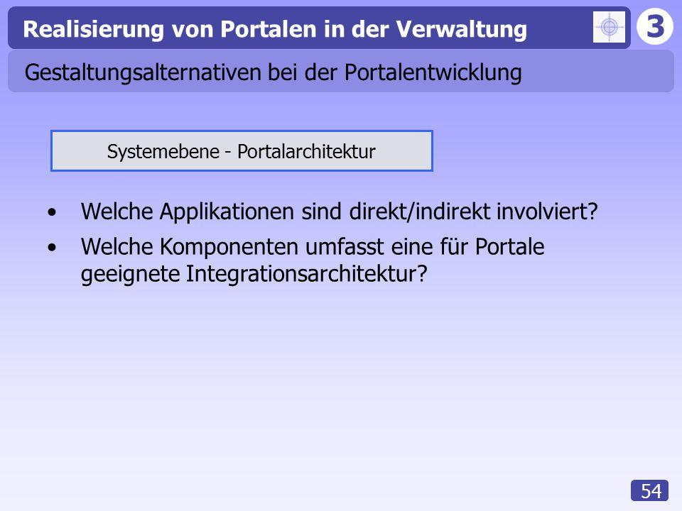 Gestaltungsalternativen bei der Portalentwicklung