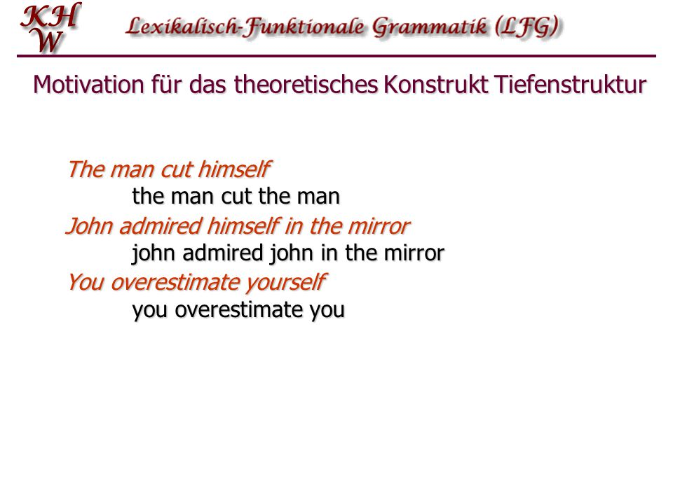 Motivation für das theoretisches Konstrukt Tiefenstruktur
