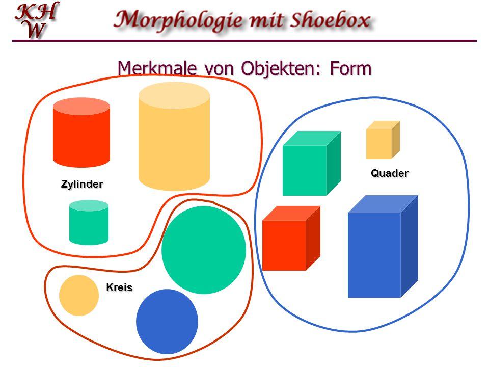 Merkmale von Objekten: Form