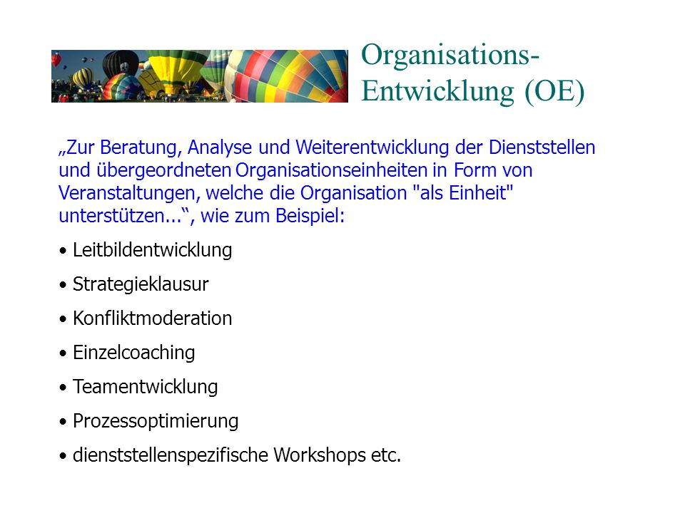Organisations- Entwicklung (OE)
