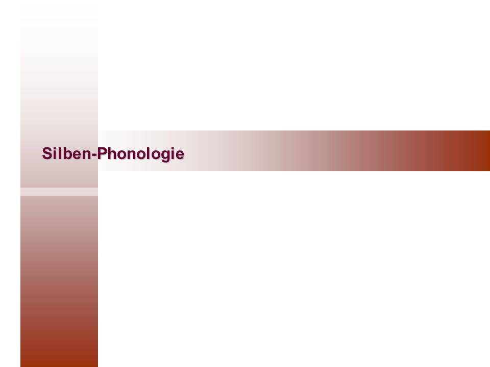 Silben-Phonologie