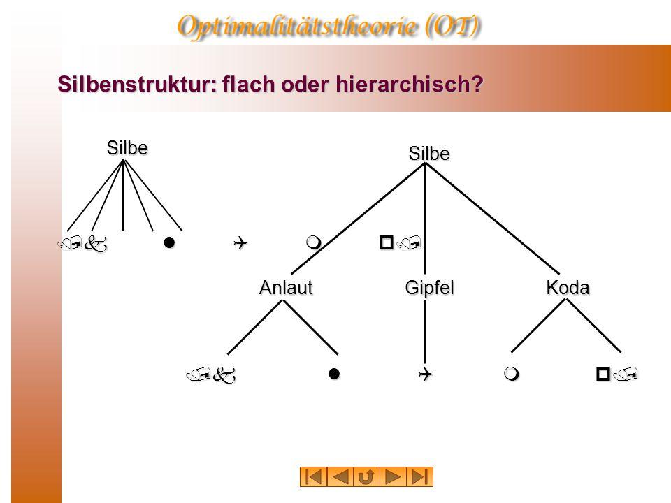 Silbenstruktur: flach oder hierarchisch