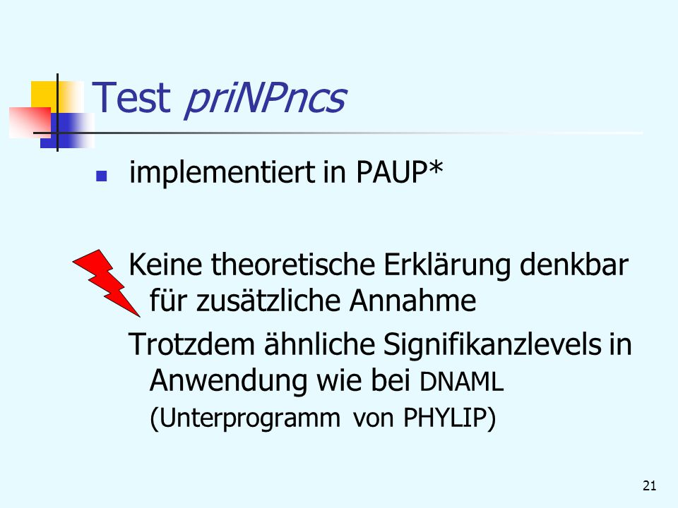Test priNPncs implementiert in PAUP*