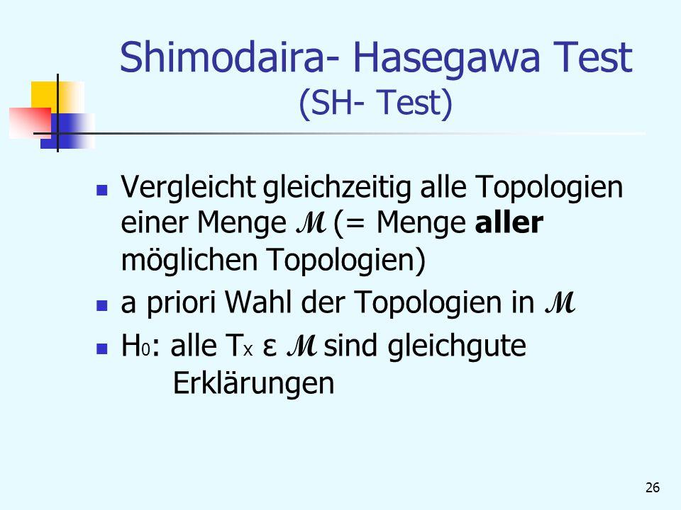 Shimodaira- Hasegawa Test (SH- Test)