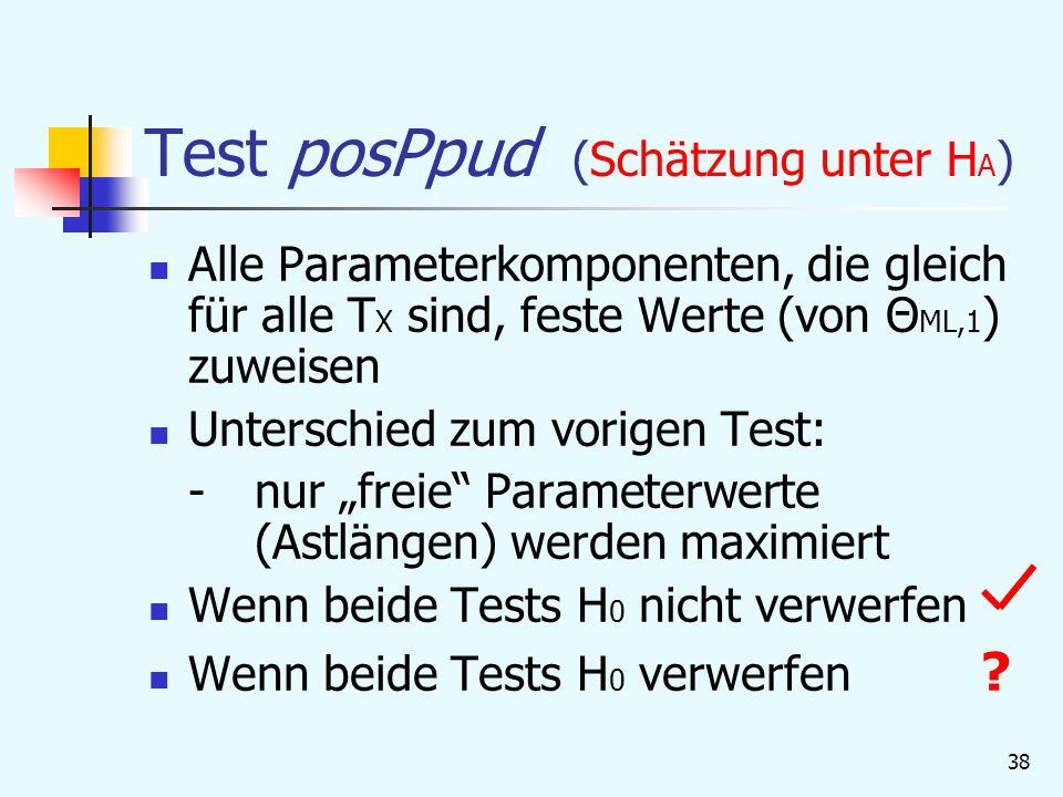 Test posPpud (Schätzung unter HA)