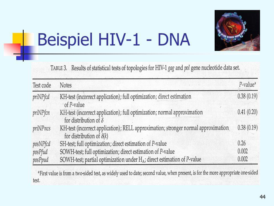 Beispiel HIV-1 - DNA