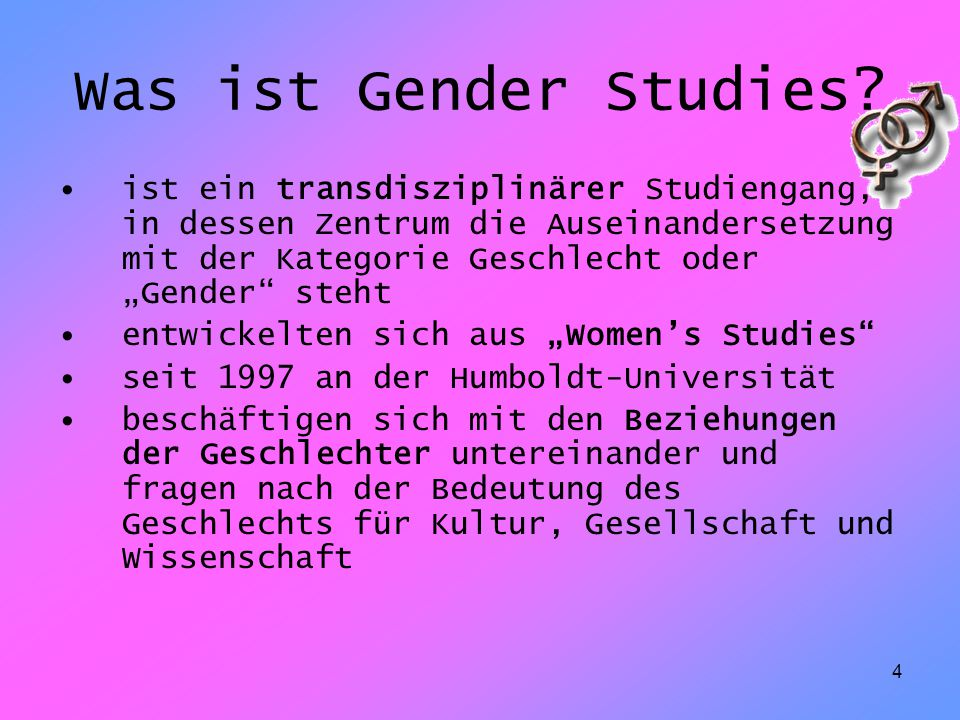 Was ist Gender Studies