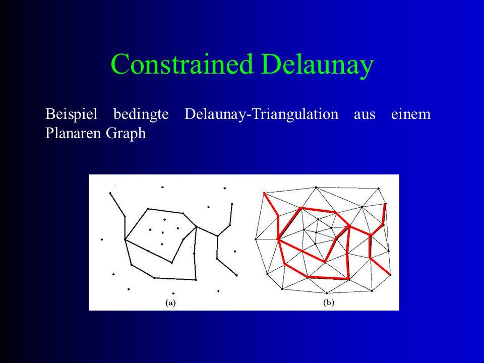 Constrained Delaunay Beispiel bedingte Delaunay-Triangulation aus einem Planaren Graph