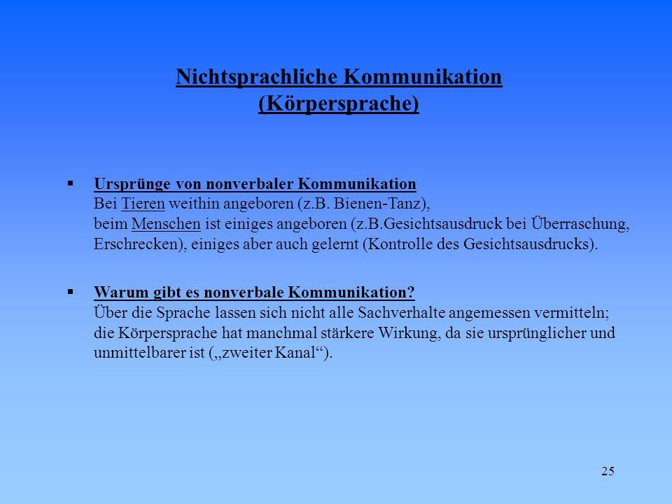 Nichtsprachliche Kommunikation (Körpersprache)