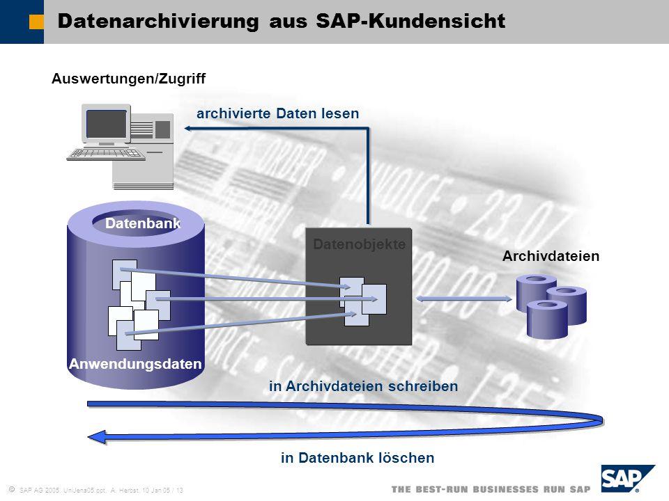 Datenarchivierung aus SAP-Kundensicht