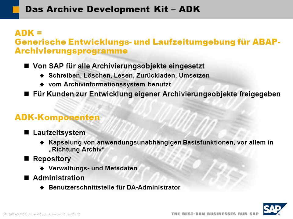 Das Archive Development Kit – ADK