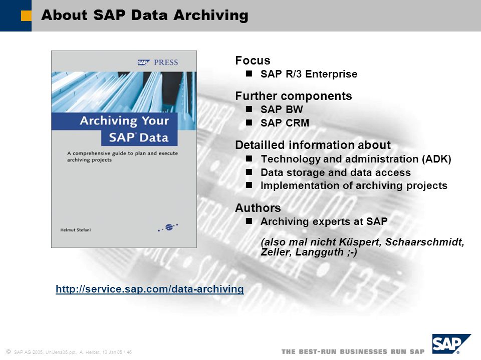About SAP Data Archiving