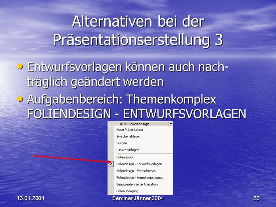 Alternativen bei der Präsentationserstellung 3