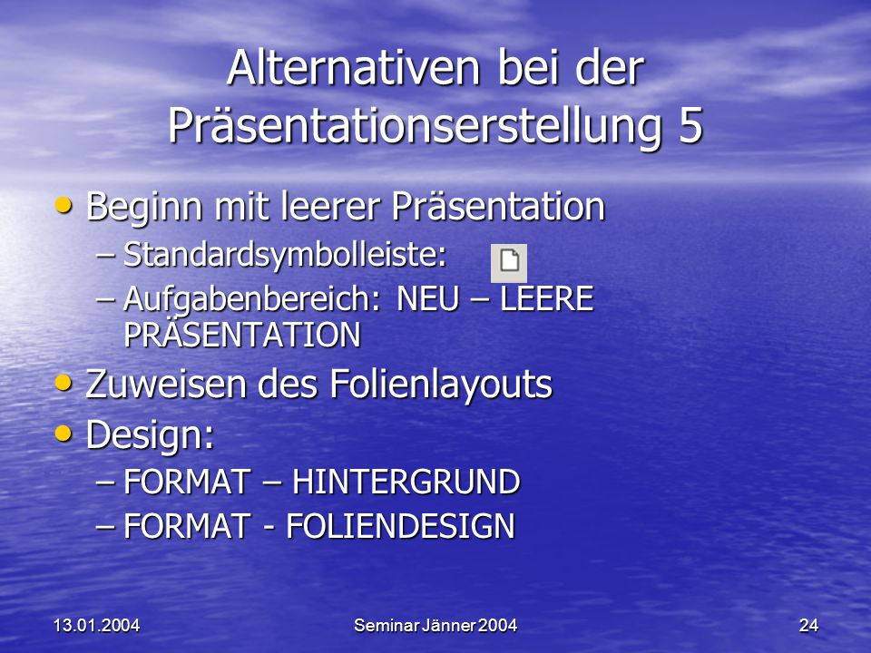 Alternativen bei der Präsentationserstellung 5