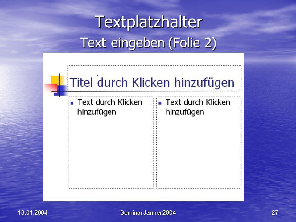 Textplatzhalter Text eingeben (Folie 2)