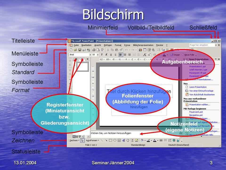 Bildschirm Minimierfeld Vollbild-/Teilbildfeld Schließfeld Titelleiste