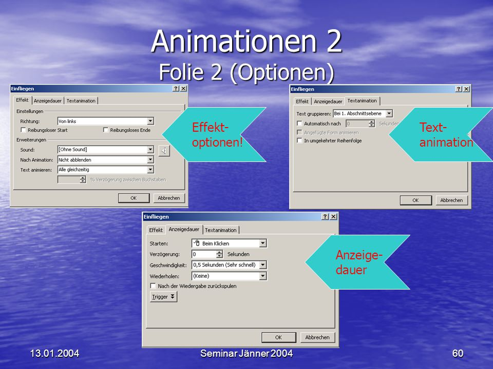Animationen 2 Folie 2 (Optionen)