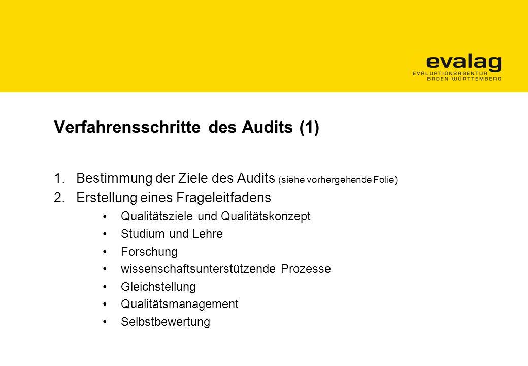 Verfahrensschritte des Audits (1)