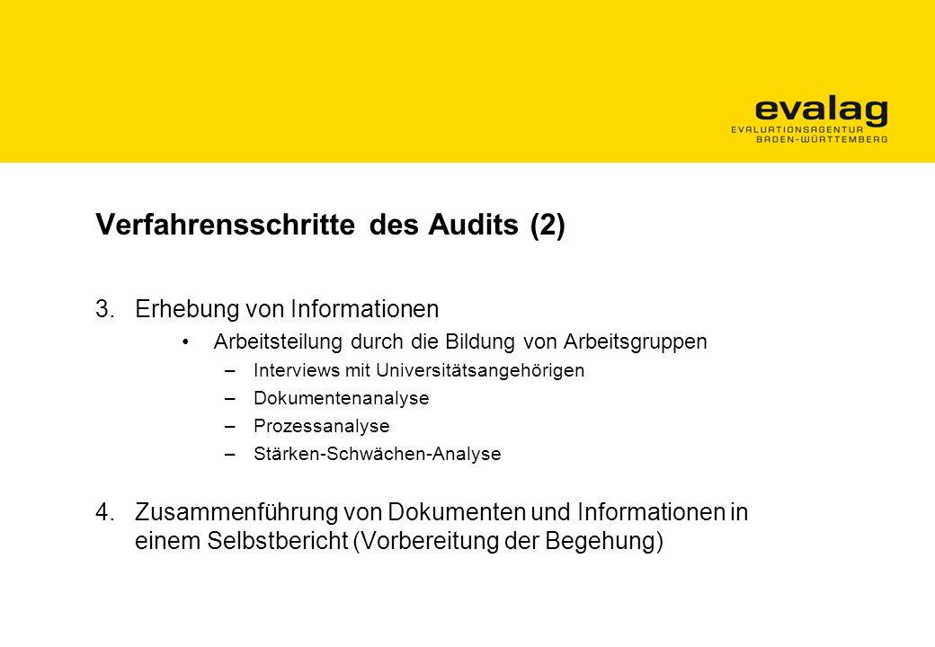 Verfahrensschritte des Audits (2)