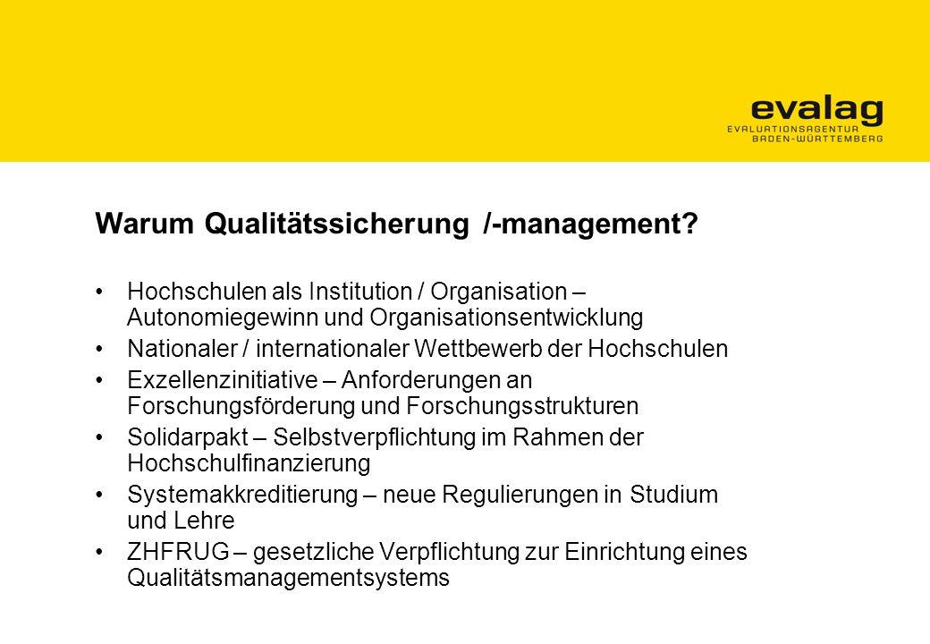 Warum Qualitätssicherung /-management