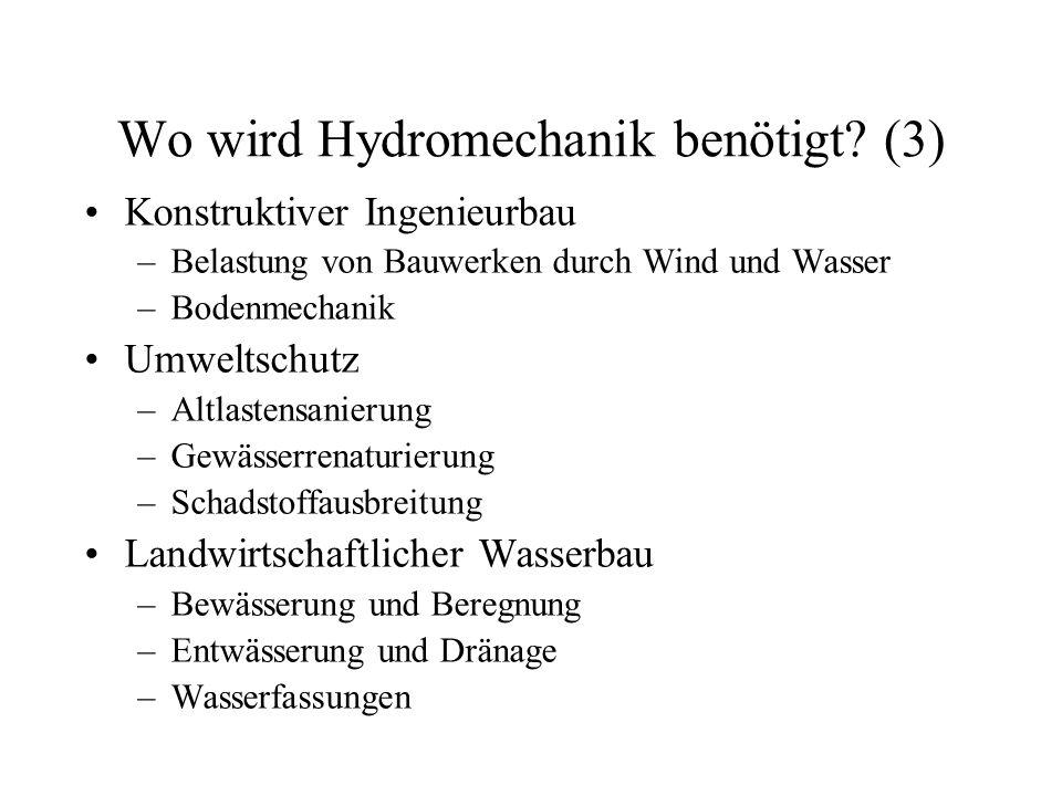 Wo wird Hydromechanik benötigt (3)