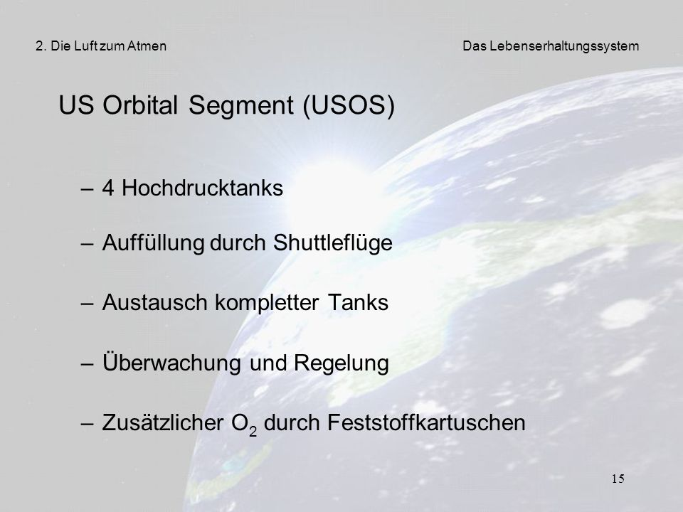US Orbital Segment (USOS)