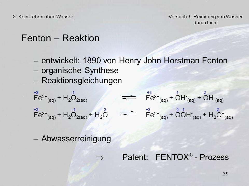Fenton – Reaktion entwickelt: 1890 von Henry John Horstman Fenton