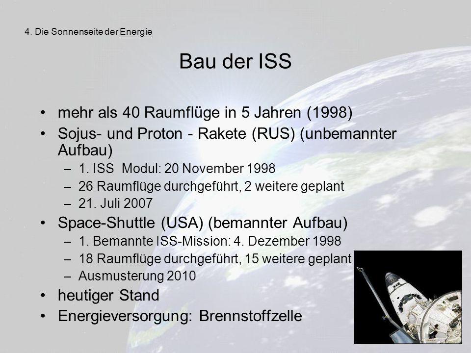 Bau der ISS mehr als 40 Raumflüge in 5 Jahren (1998)