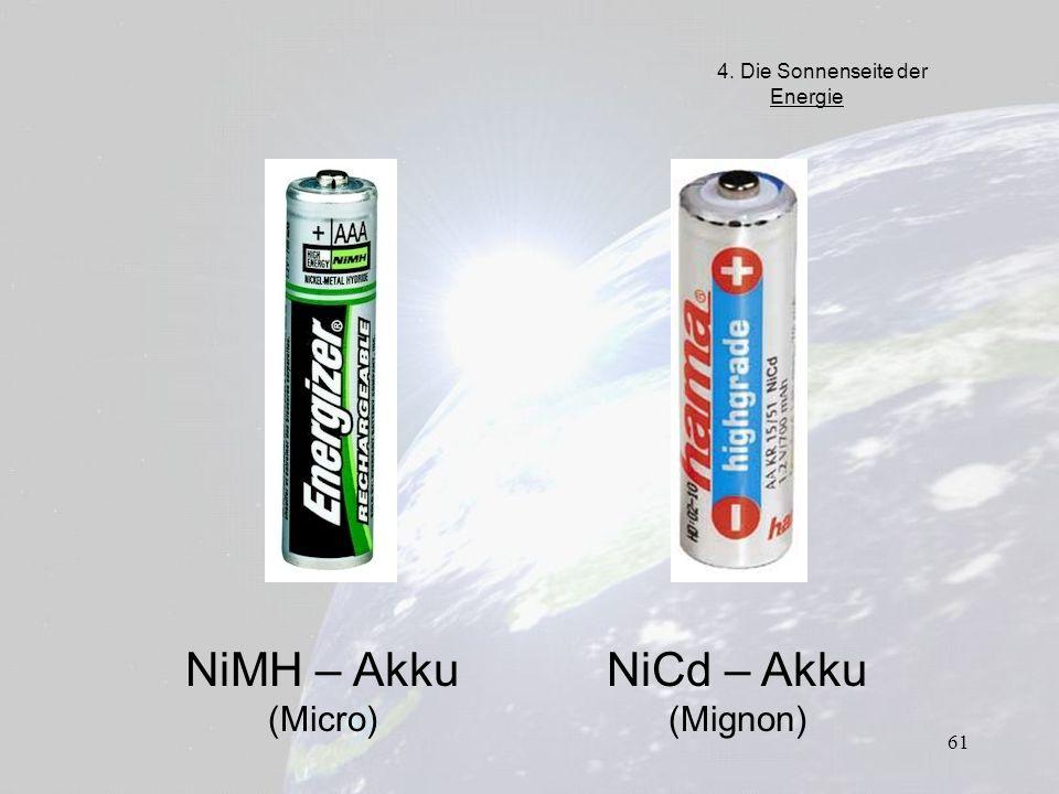 NiMH – Akku (Micro) NiCd – Akku (Mignon)