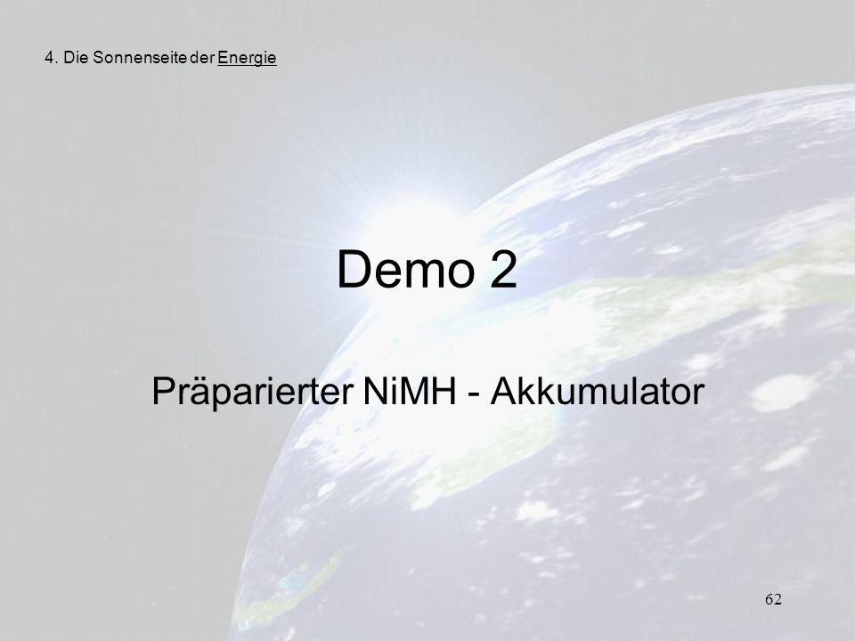 Präparierter NiMH - Akkumulator