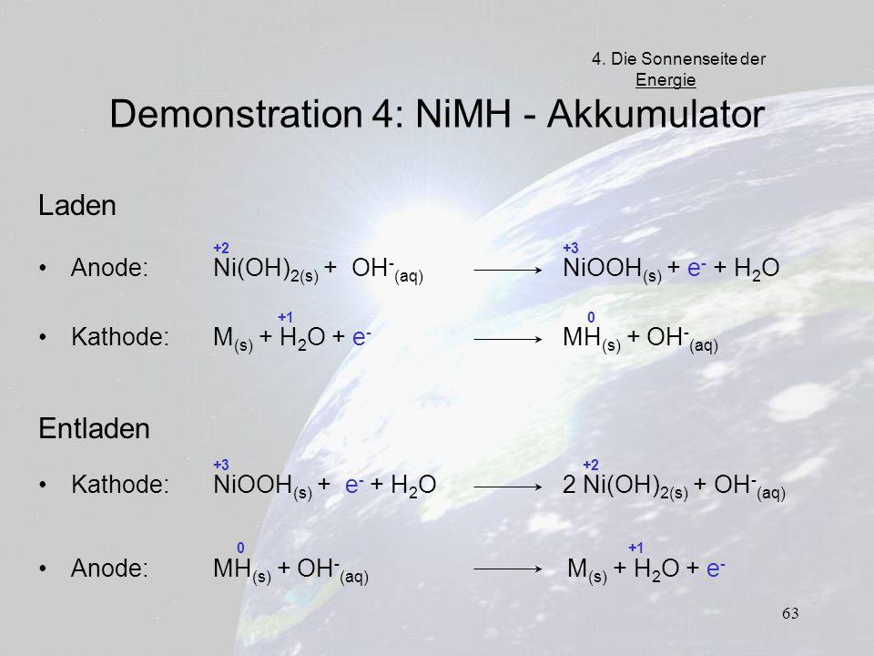 Demonstration 4: NiMH - Akkumulator