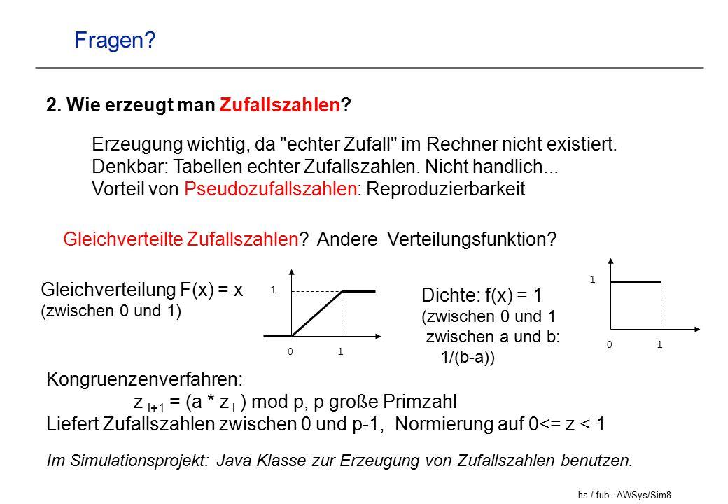 Fragen 2. Wie erzeugt man Zufallszahlen