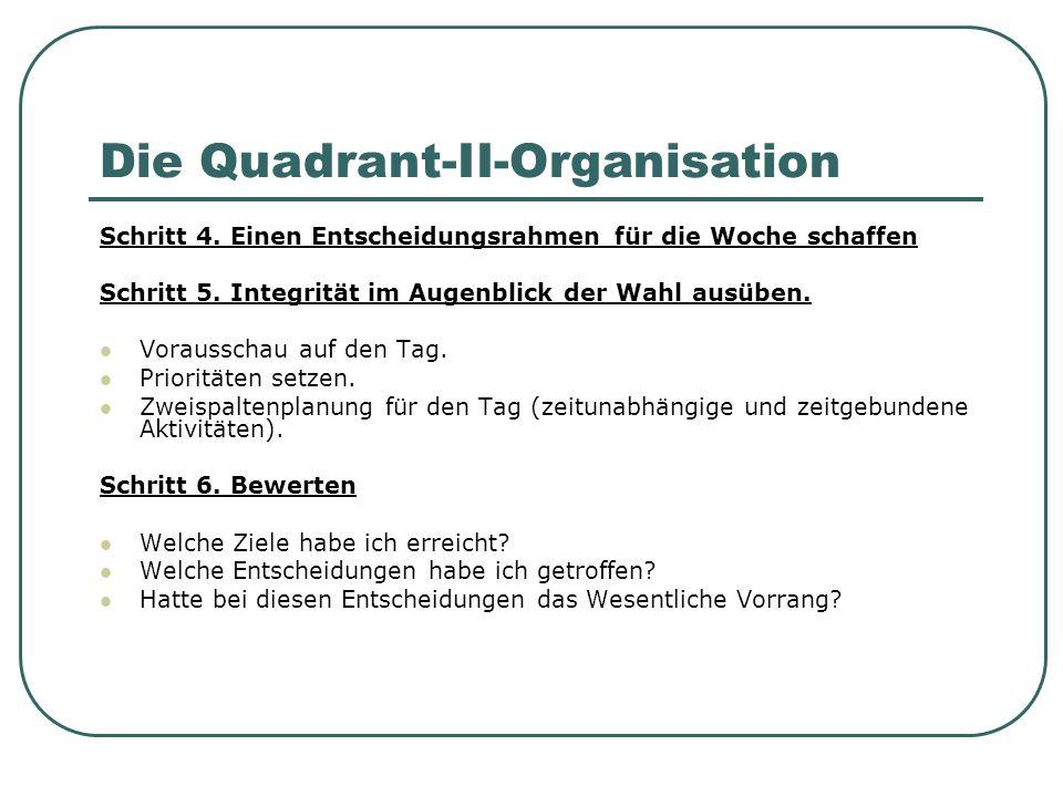 Die Quadrant-II-Organisation