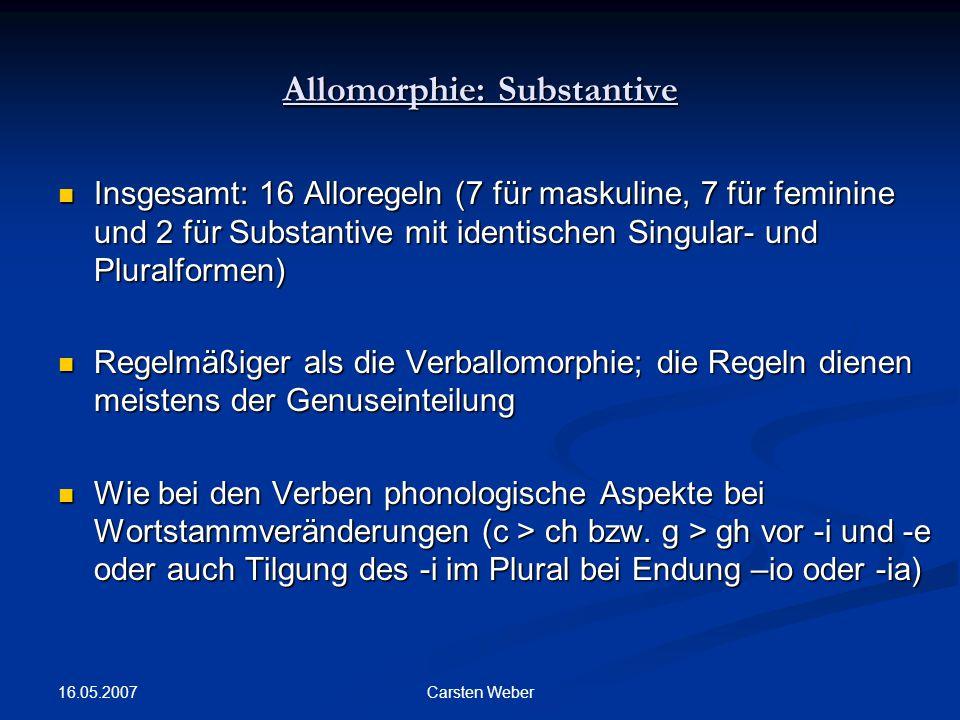 Allomorphie: Substantive