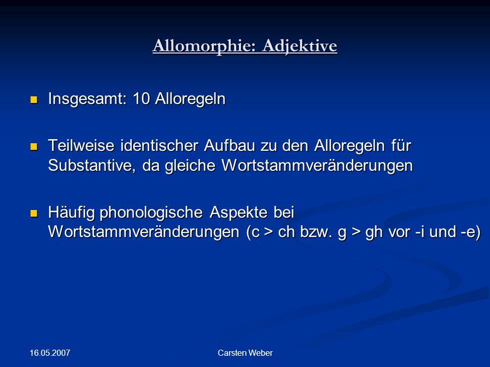 Allomorphie: Adjektive