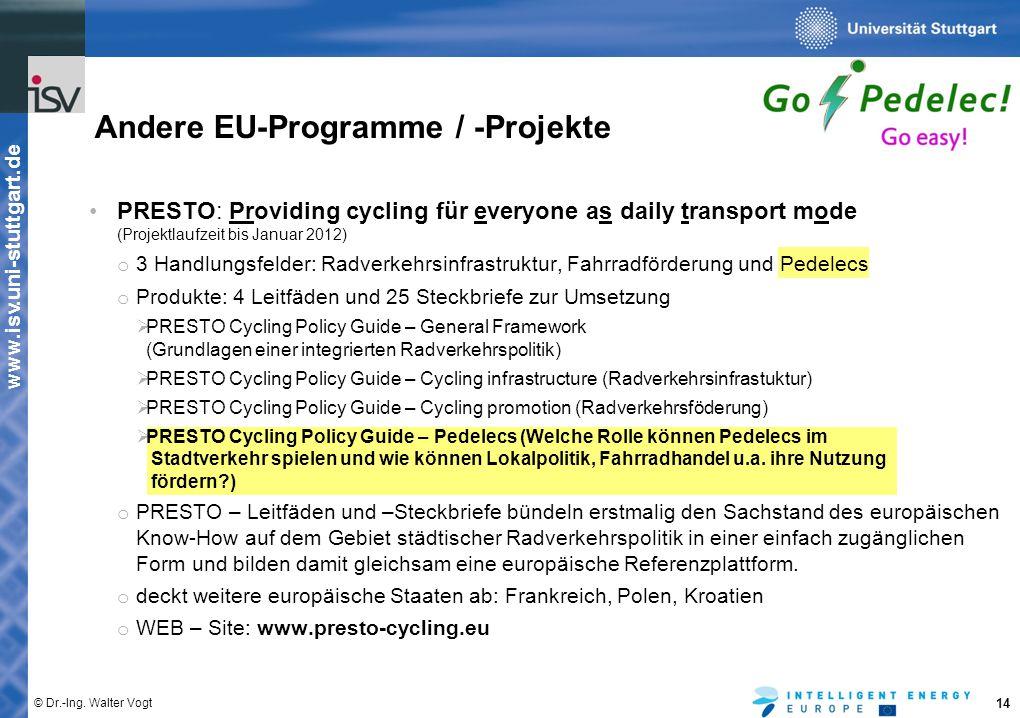 Andere EU-Programme / -Projekte