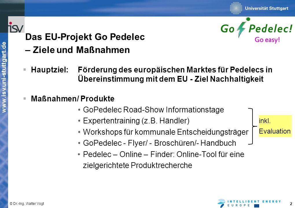 Das EU-Projekt Go Pedelec – Ziele und Maßnahmen