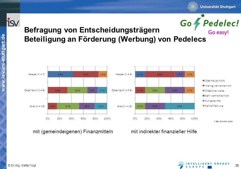 Befragung von Entscheidungsträgern Beteiligung an Förderung (Werbung) von Pedelecs